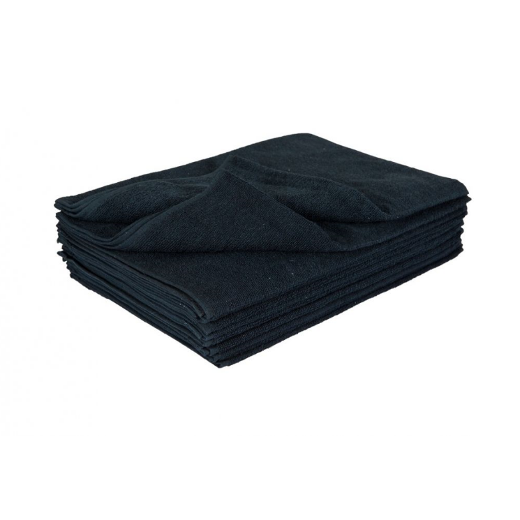 10 InMood Thick Black Hand Towels 100% Cotton