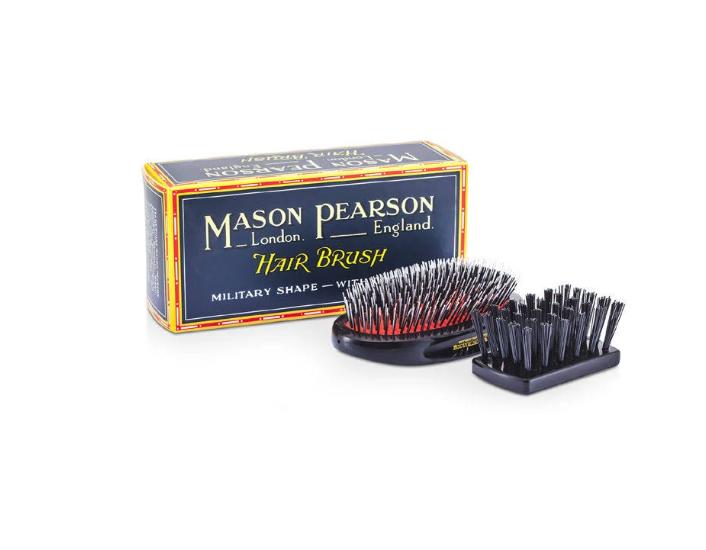 Mason Pearson - Bristle & Nylon Popular Large Size Military Hair Brush Dark Ruby - BN1M