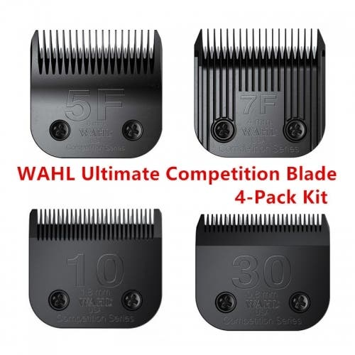 WAHL Ultimate Competition Series Blade 4 blades (5F, 7F, 10, 30) Pack Kit