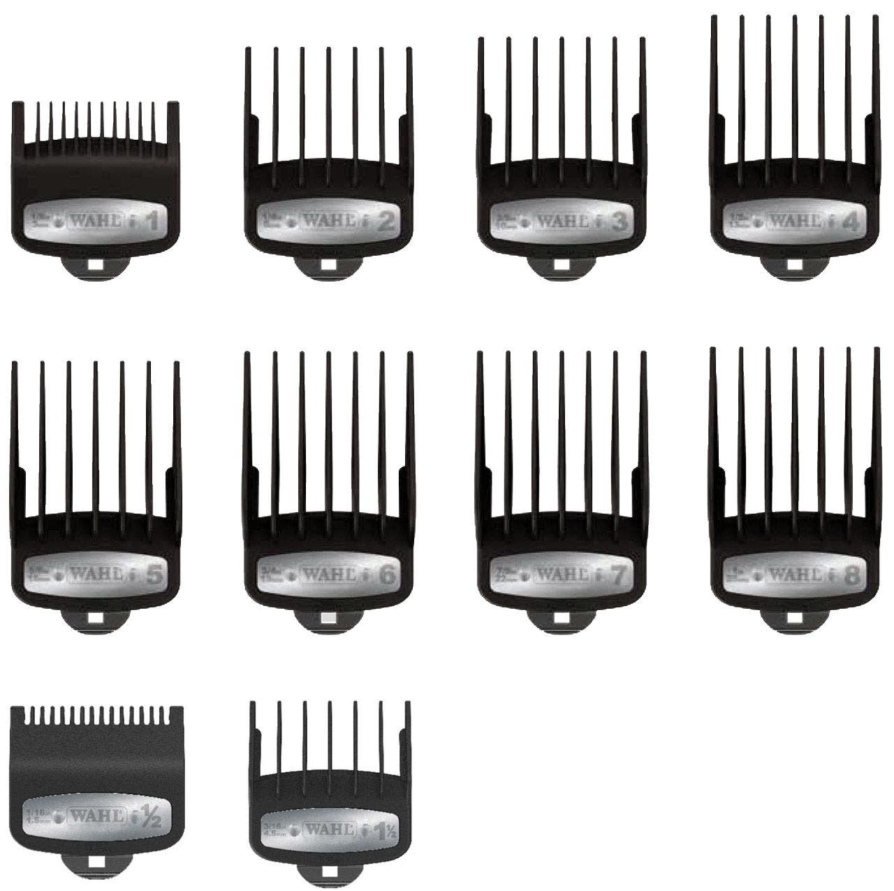 Wahl Premium Clipper Guide Comb Attachment Set: #1.2 to #8