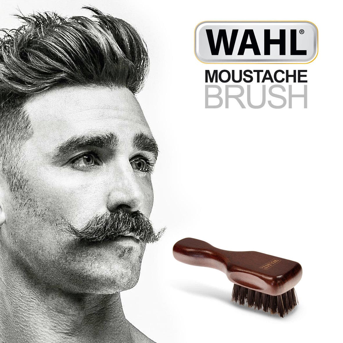 WAHL Pure Natural Bristle Moustache Brush - Mini