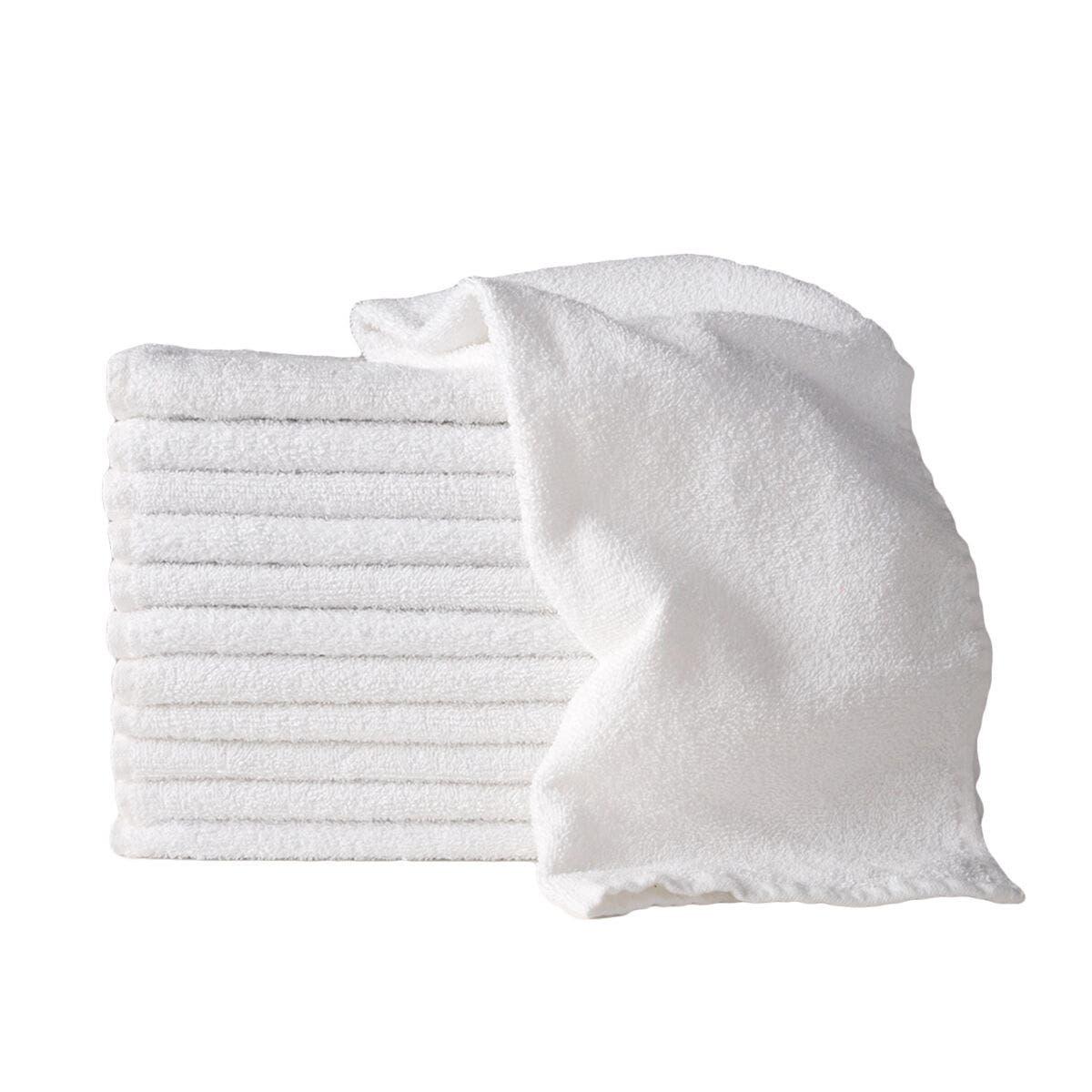 10 x 100g WHITE Sydney Salon Supplies 100% Cotton Hand Towels Salon/Barber/Beauty/Gym/Hotel 35x75cm