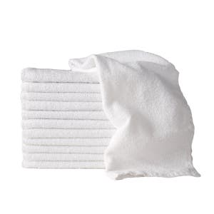 10 x 100g WHITE SSS 100% Cotton Hand Towels Salon/Barber/Beauty/Gym/Hotel 35x75cm